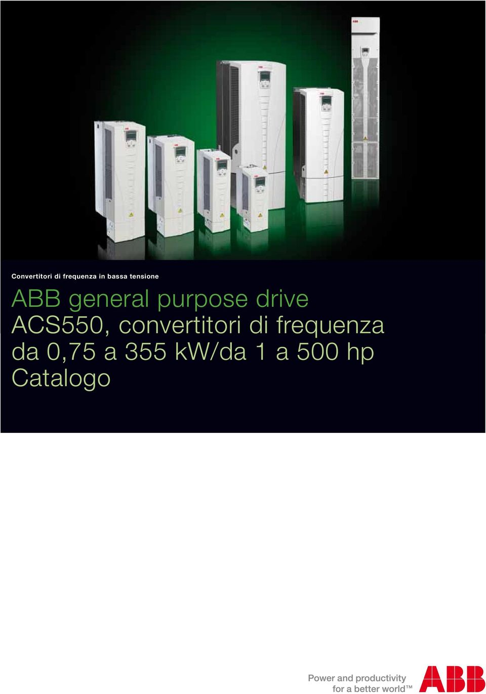 ACS550, convertitori di frequenza