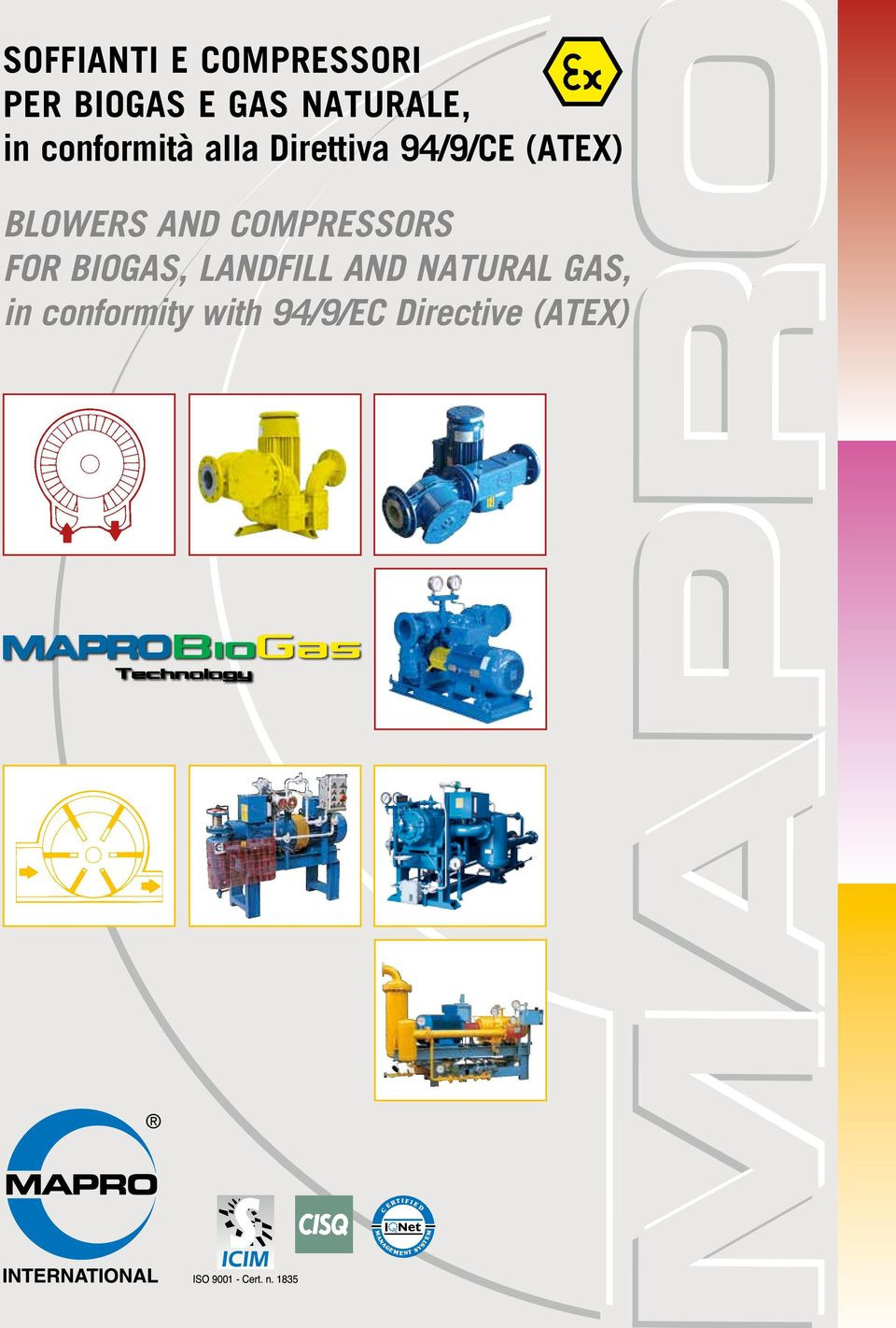 (ATEX) BLOWERS AND COMPRESSORS FOR BIOGAS,