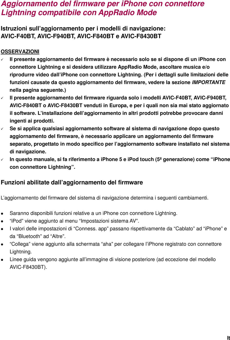 riprodurre video dall iphone con connettore Lightning.