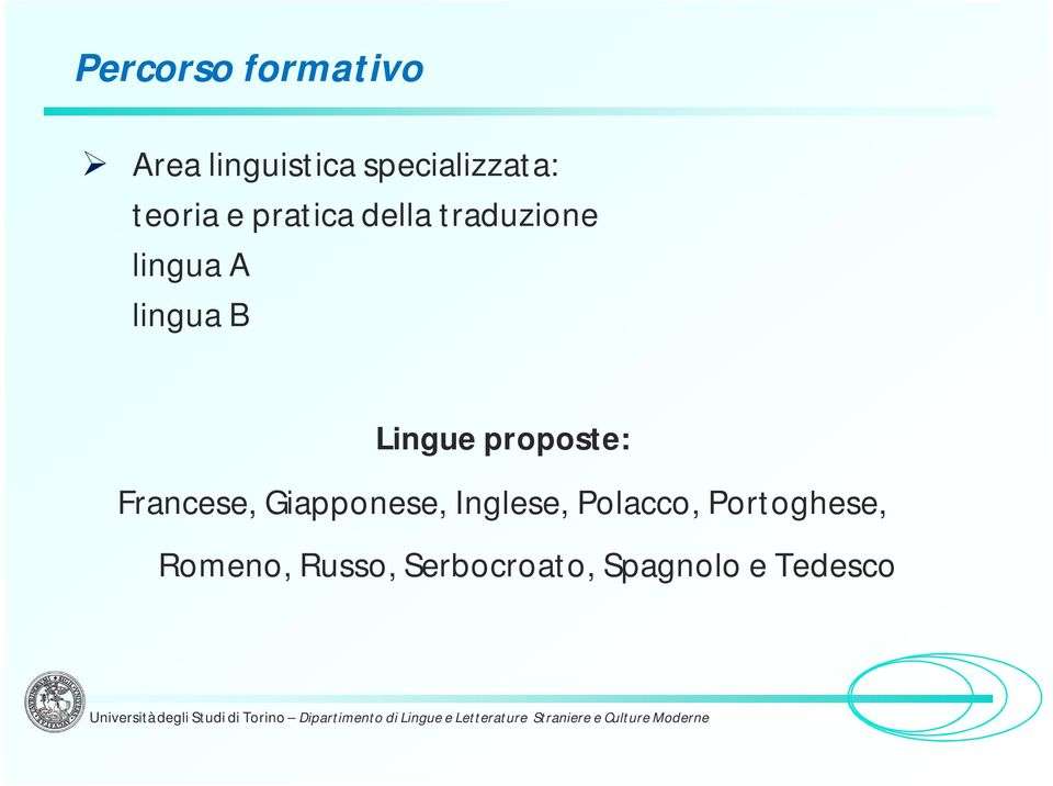 Lingue proposte: Francese, Giapponese, Inglese,