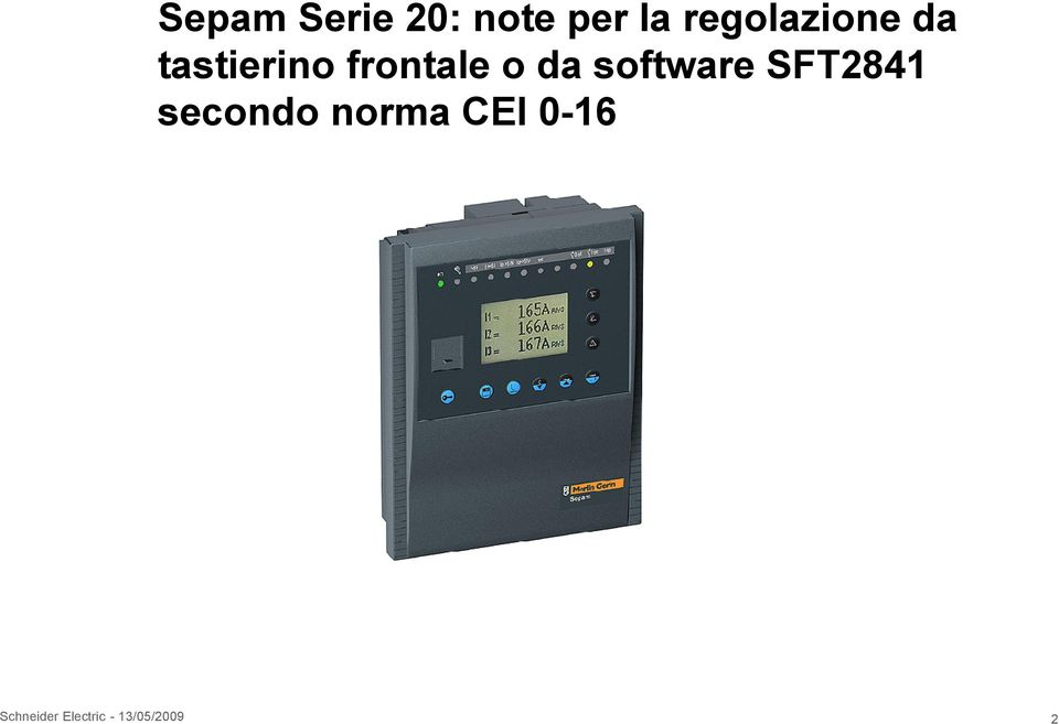 o da software SFT2841 secondo norma
