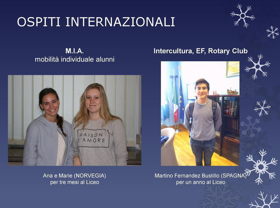 Intercultura, EF, Rotary Club Ana e Marie