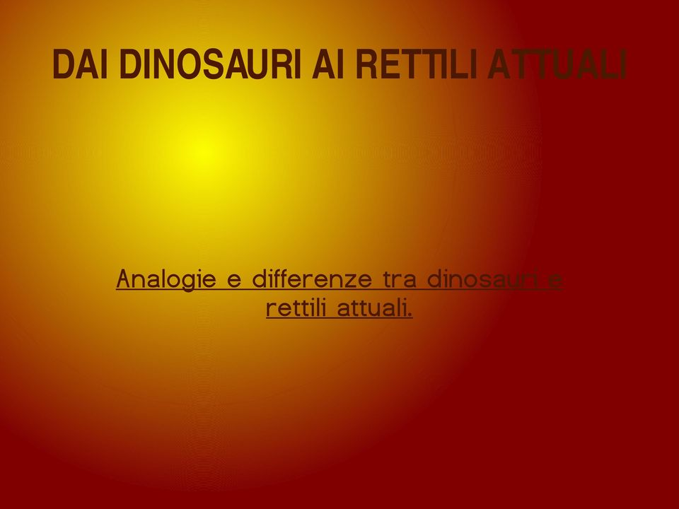 Analogie e differenze