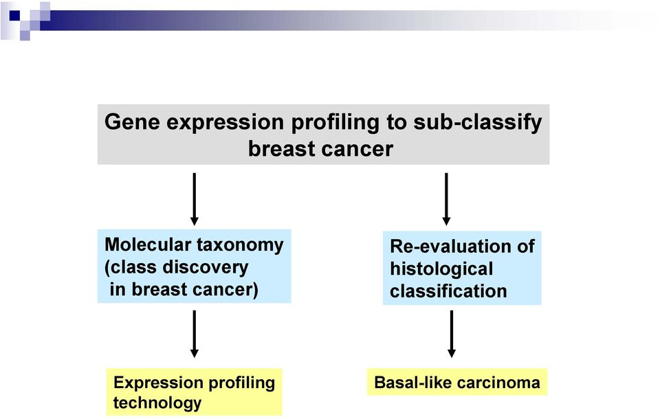 breast cancer) Re-evaluation of histological