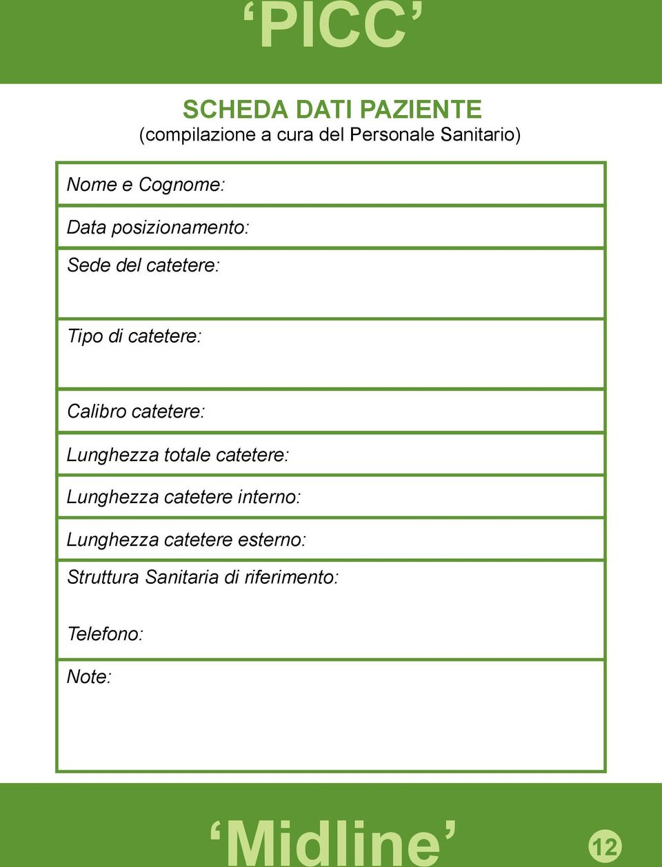 Calibro catetere: Lunghezza totale catetere: Lunghezza catetere interno: