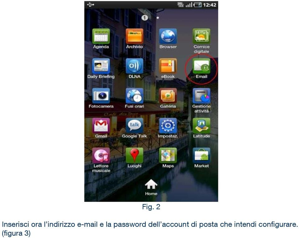 password dell account di