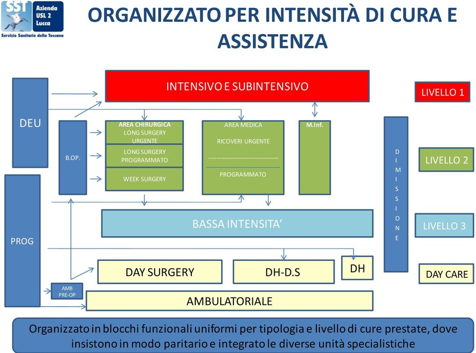LONG SURGERY PROGRAMMATO WEEK SURGERY ---------------------------------- PROGRAMMATO D I M I LIVELLO 2 S S I BASSA INTENSITA O N