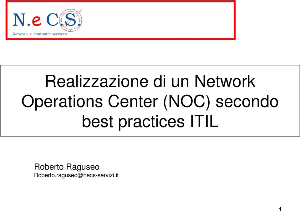 best practices ITIL Roberto