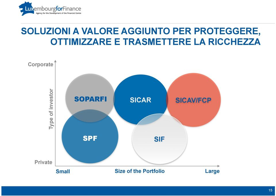 Corporate Type of investor SOPARFI SICAR