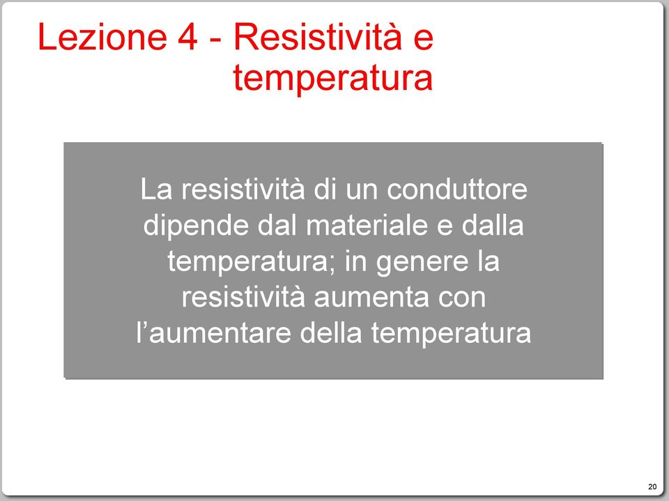 materiale e dalla temperatura; in genere la