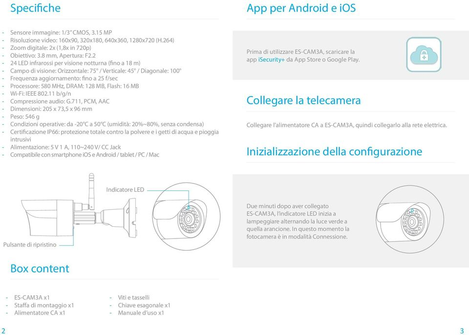 MB, Flash: 16 MB - Wi-Fi: IEEE 802.11 b/g/n - Compressione audio: G.