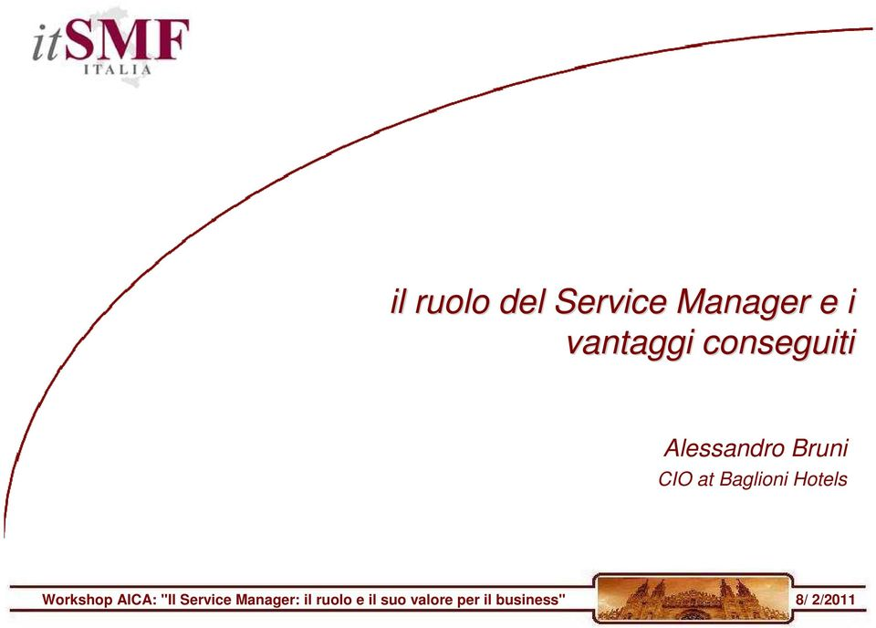 "Hotels Workshop AICA: ""Il Service Manager:"