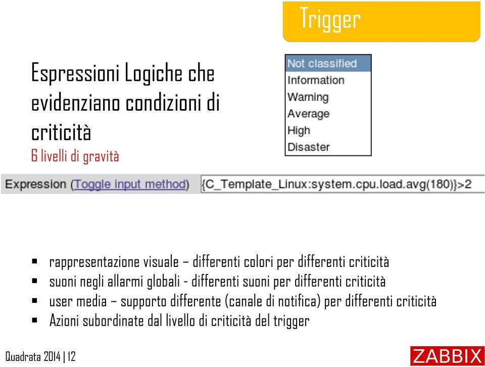 globali - differenti suoni per differenti criticità user media supporto differente (canale