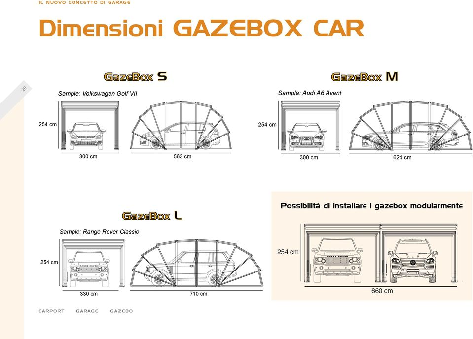 GazeBox XLL Possibilità di installare i gazebox modularmente Double Suv