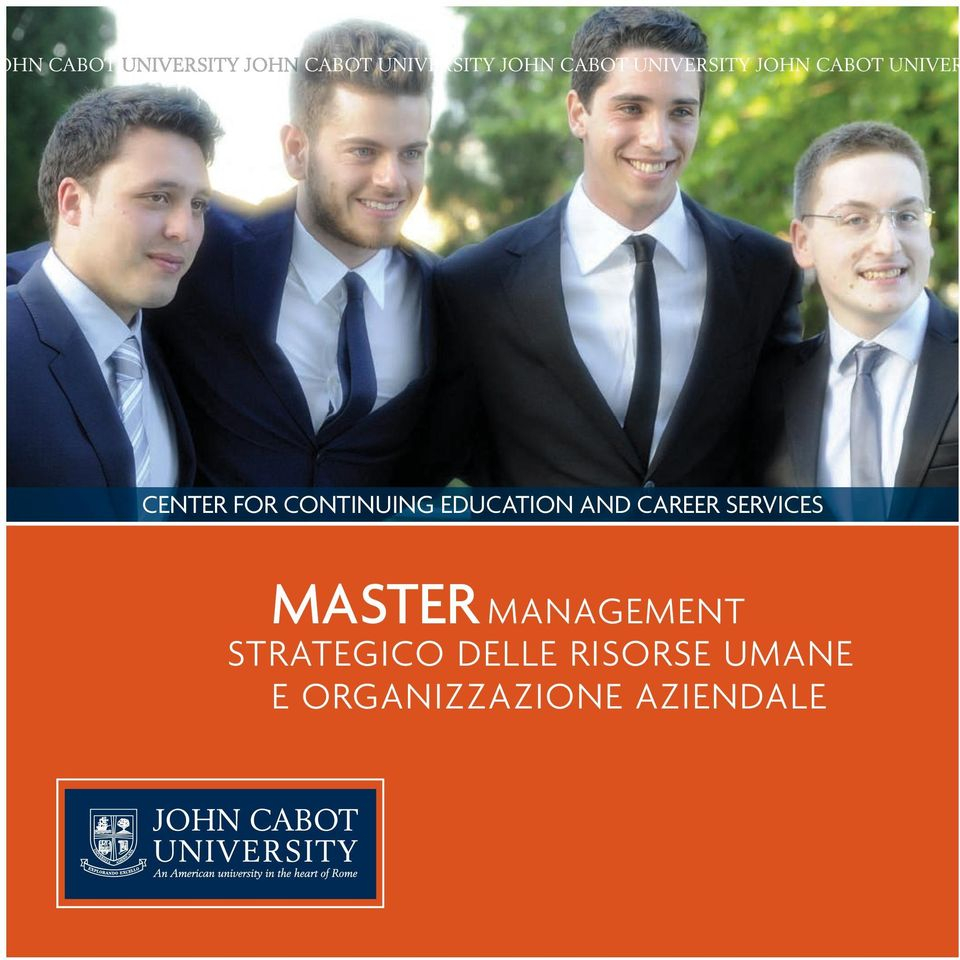EDUCATION AND CAREER SERVICES MASTER MANAGEMENT