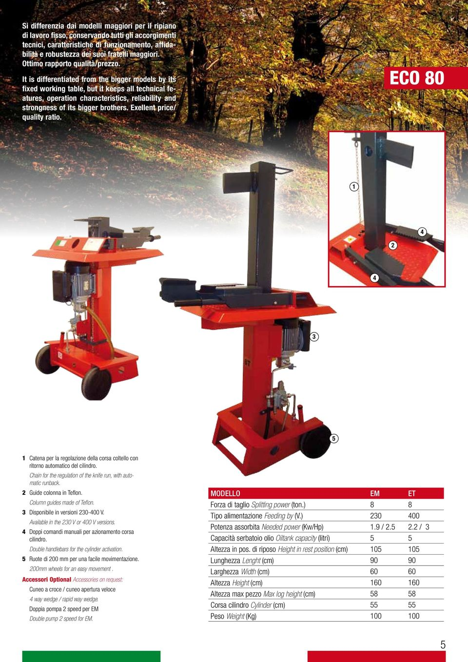 It is differentiated from the bigger models by its fixed working table, but it keeps all technical features, operation characteristics, reliability and strongness of its bigger brothers.