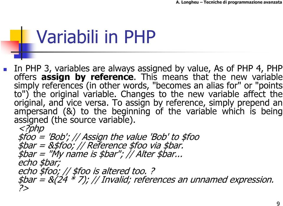 Changes to the new variable affect the original, and vice versa.