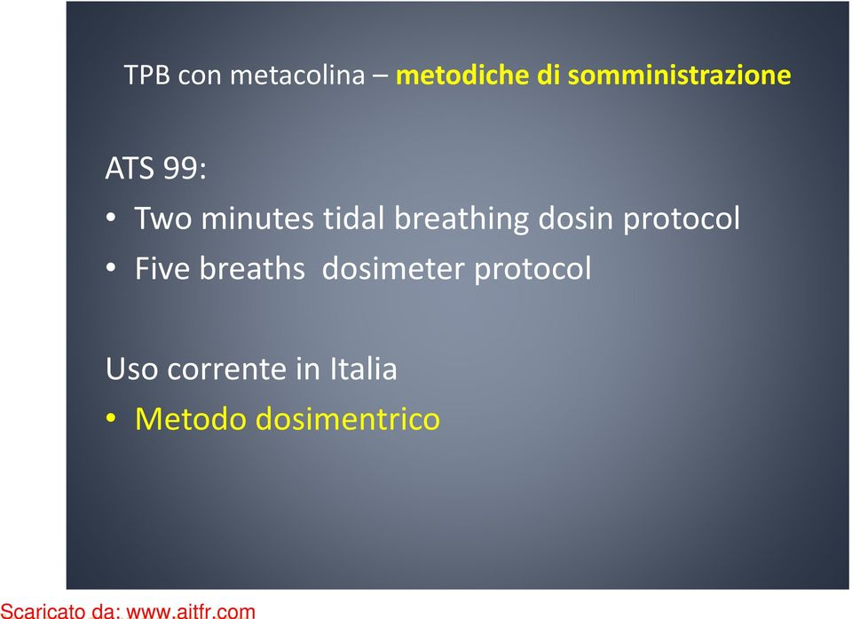 breathing dosin protocol Five breaths