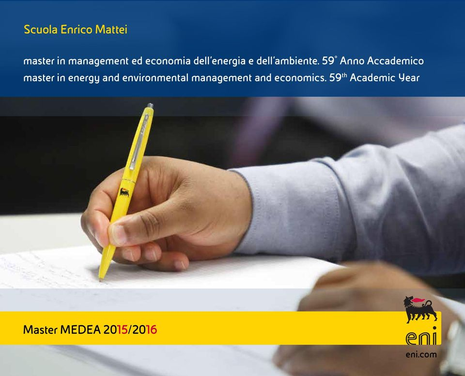 59 Anno Accademico master in energy and