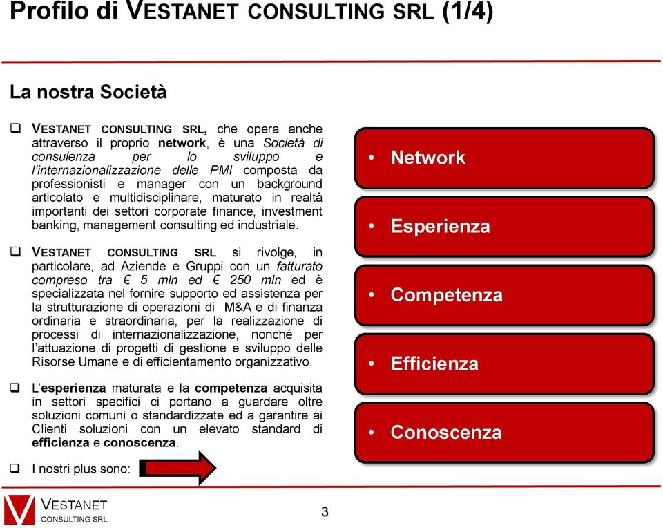 banking, management consulting ed industriale.