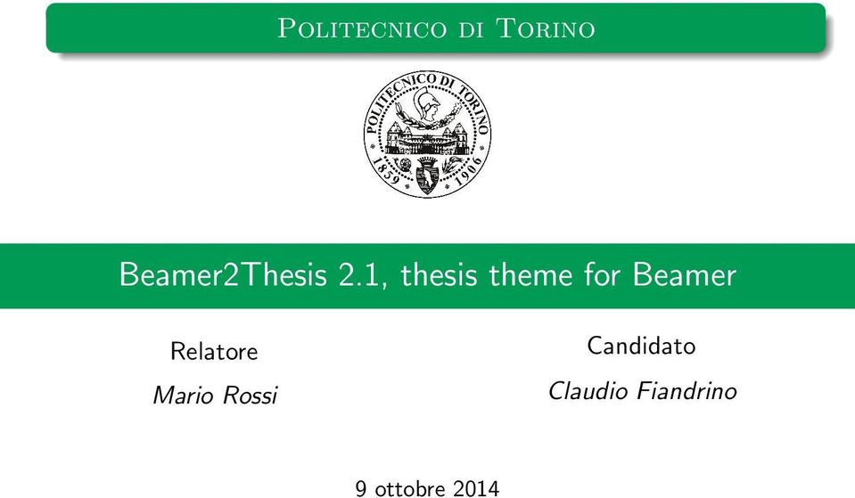 Thesis for theme