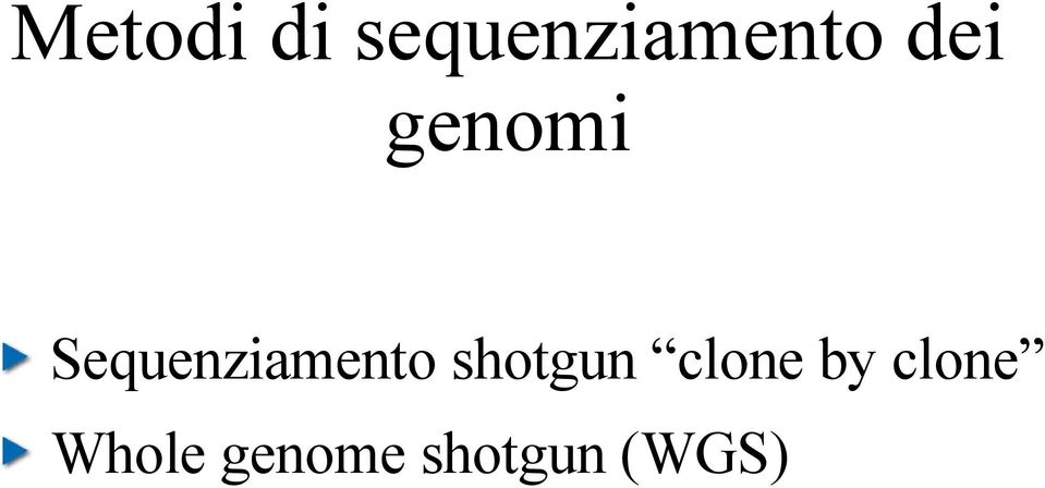 Sequenziamento shotgun