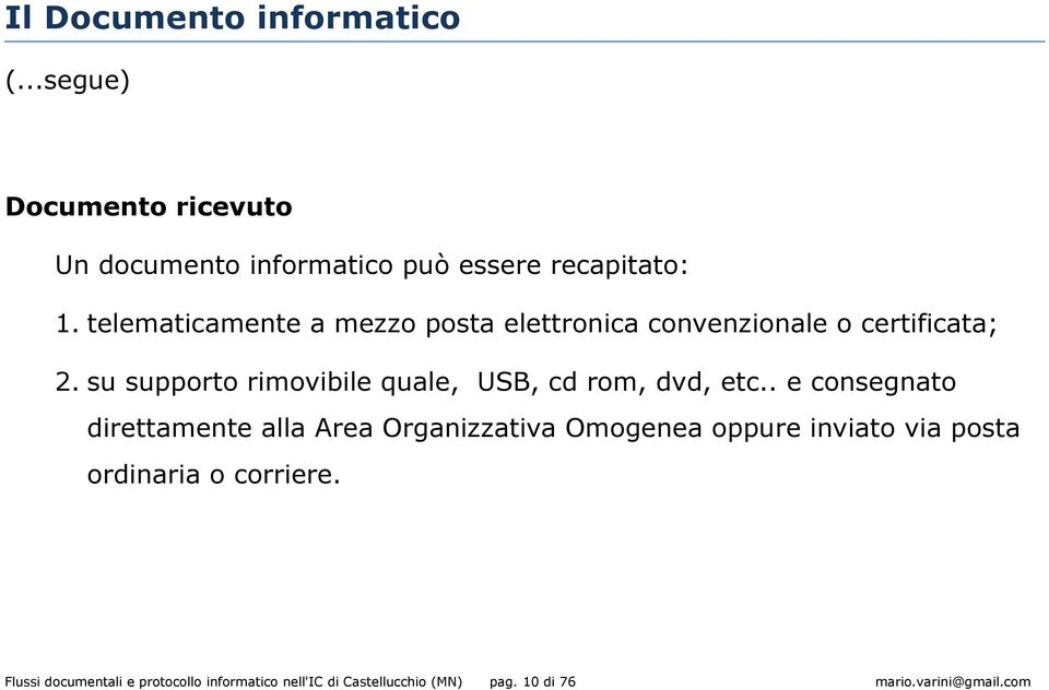 su supporto rimovibile quale, USB, cd rom, dvd, etc.