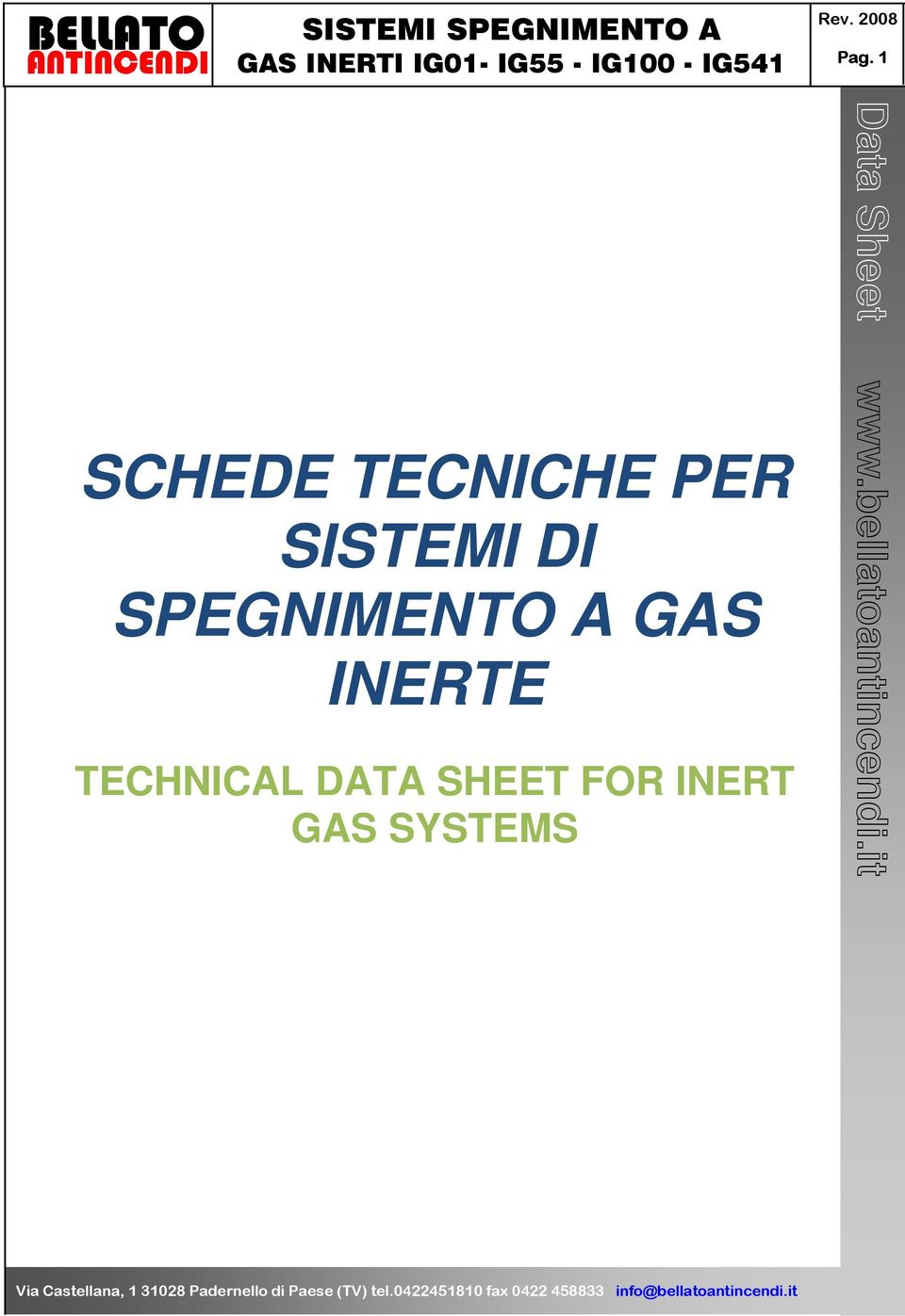 GAS INERTE TECHNICAL DATA