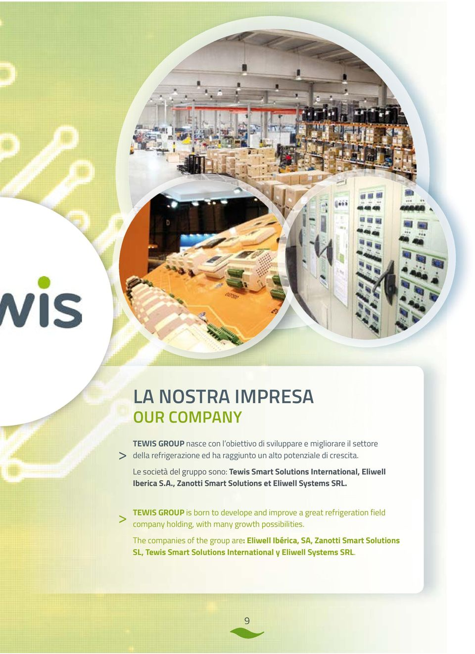 , Zanotti Smart Solutions et Eliwell Systems SRL.