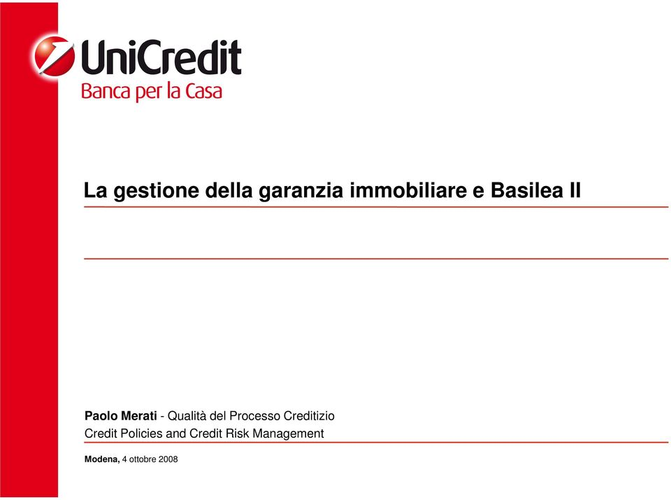 Processo Creditizio Credit Policies and