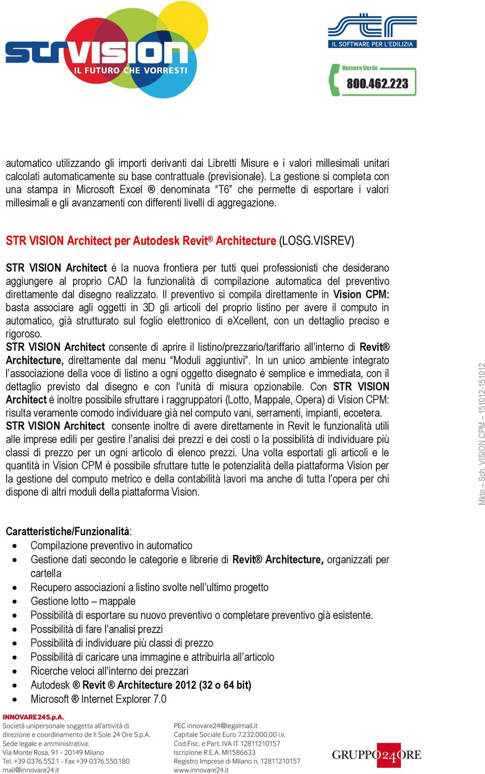 STR VISION Architect per Autodesk Revit Architecture (LOSG.