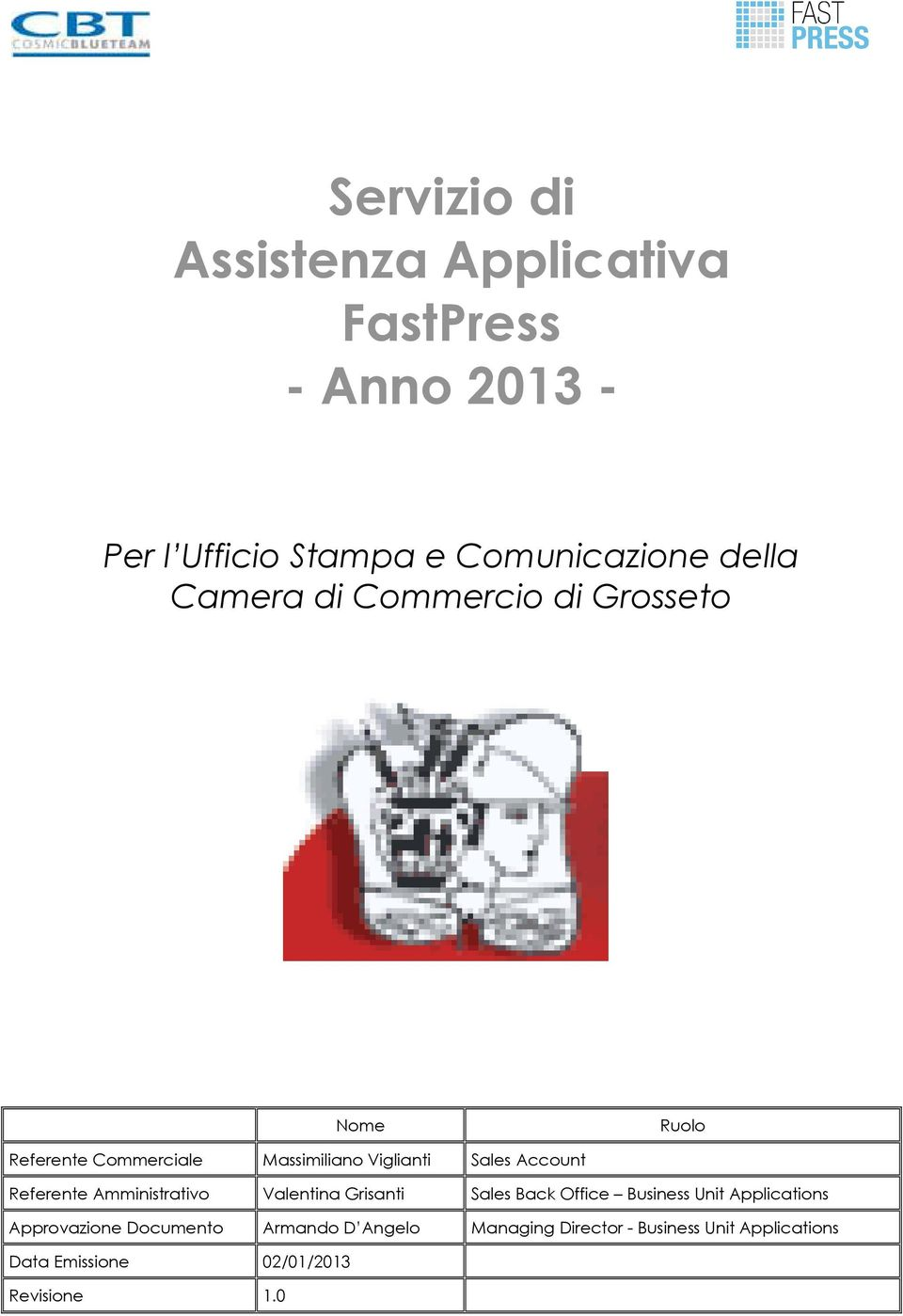Referente Amministrativo Valentina Grisanti Sales Back Office Business Unit Applications Approvazione