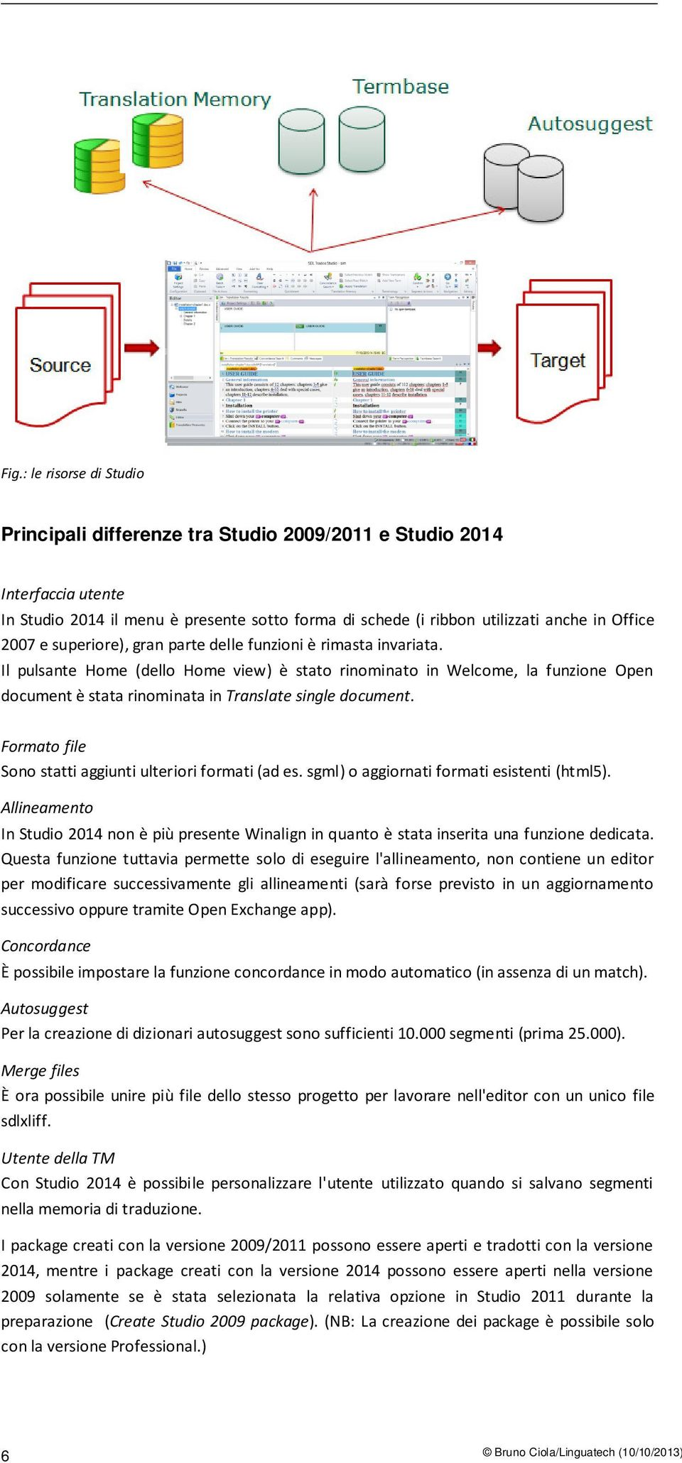 Il pulsante Home (dello Home view) è stato rinominato in Welcome, la funzione Open document è stata rinominata in Translate single document. Formato file Sono statti aggiunti ulteriori formati (ad es.