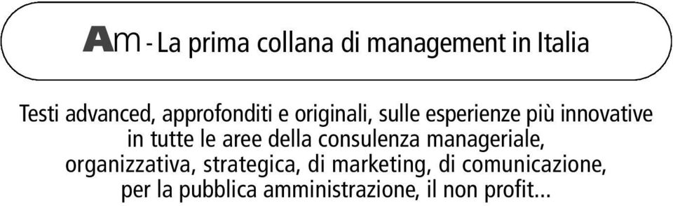 consulenza manageriale, organizzativa, strategica, di marketing,