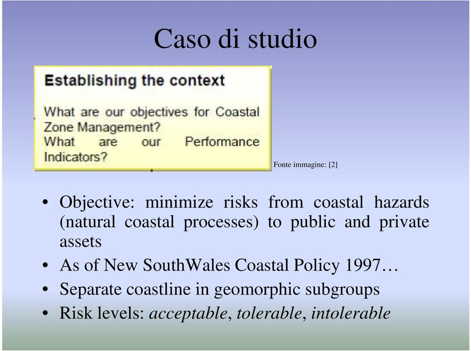 assets As of New SouthWales Coastal Policy 1997 Separate coastline