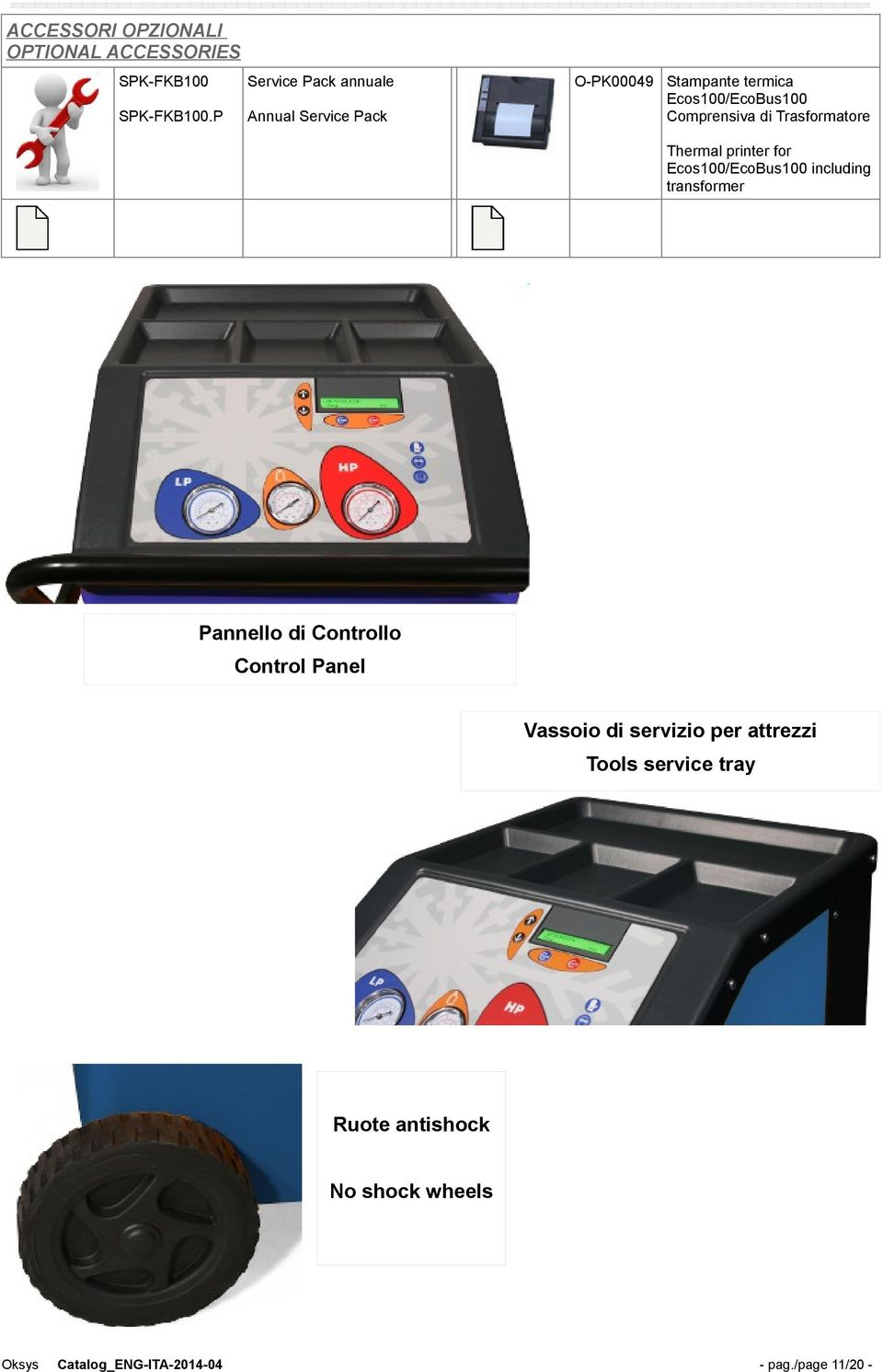 Trasformatore Thermal printer for Ecos100/EcoBus100 including transformer Pannello di