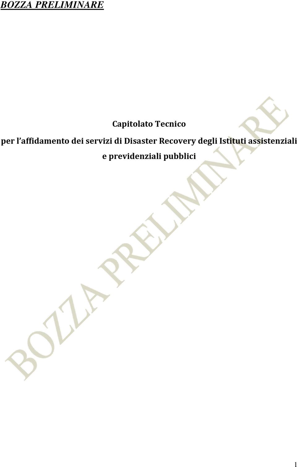 Disaster Recovery degli