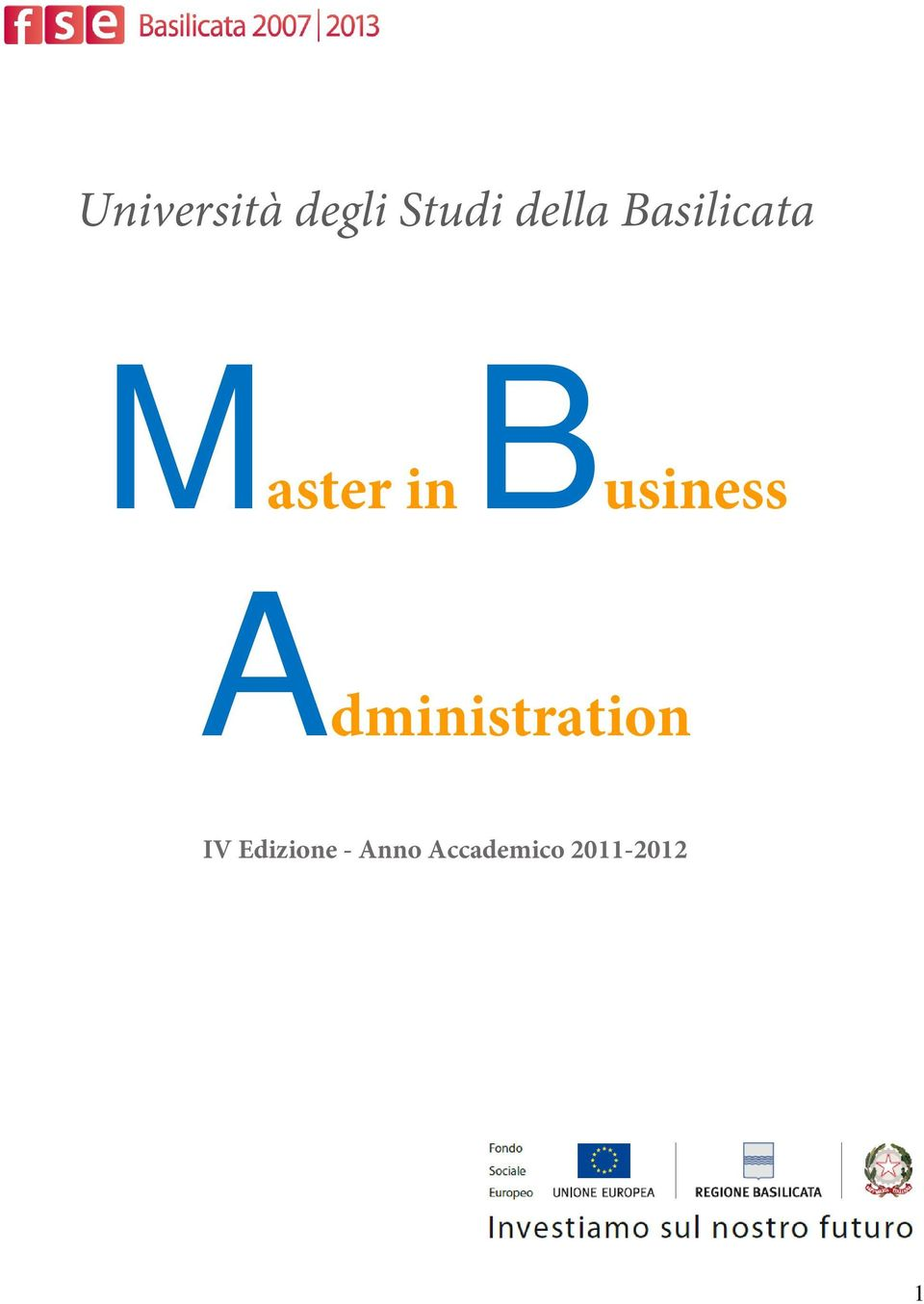 Business Administratin IV