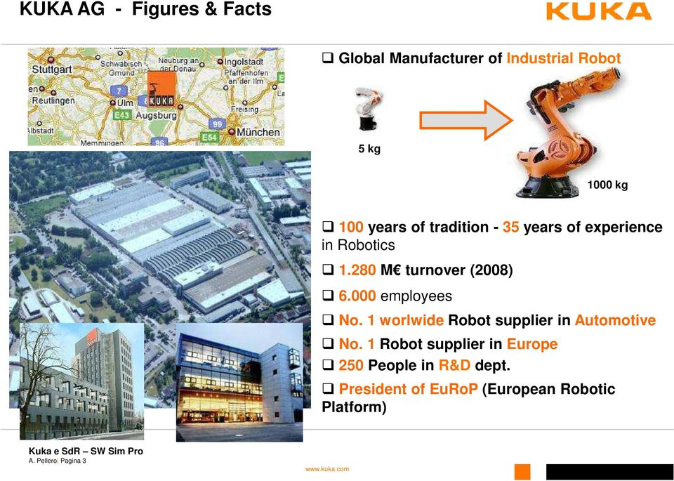 000 employees No. 1 worlwide Robot supplier in Automotive No.