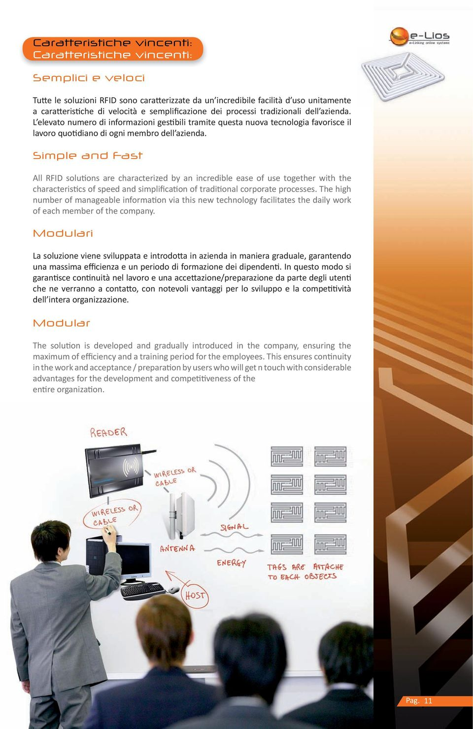 Simple and Fast All RFID solutions are characterized by an incredible ease of use together with the characteristics of speed and simplification of traditional corporate processes.