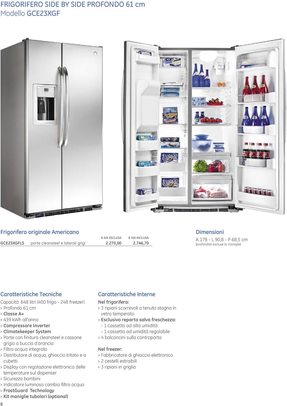 Great Emejing Frigo Americano Dimensioni Gallery Ameripest Us With Frigo  Americano Misure With Frigo Sharp 4 Porte Misure.