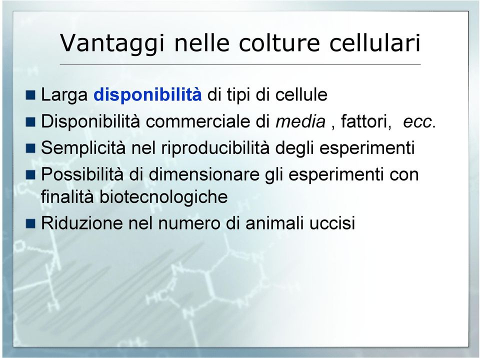 Disponibilità commerciale di media, fattori, ecc.