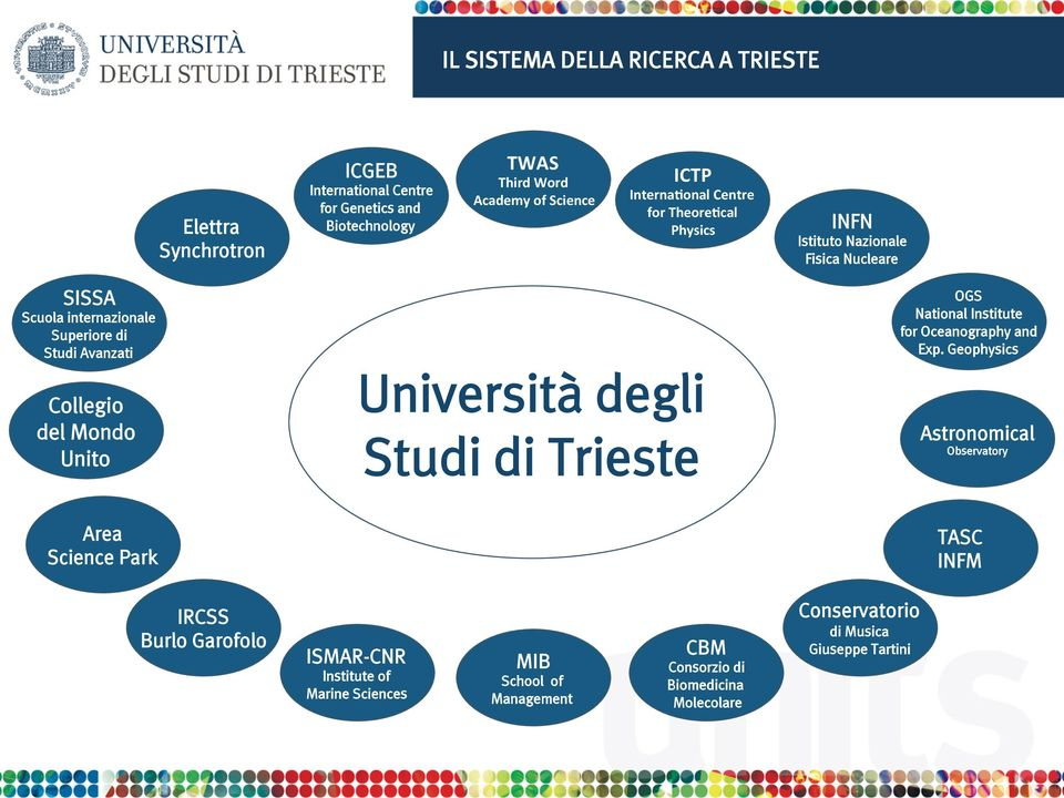 Unito Università degli Studi di Trieste OGS National Institute for Oceanography and Exp.