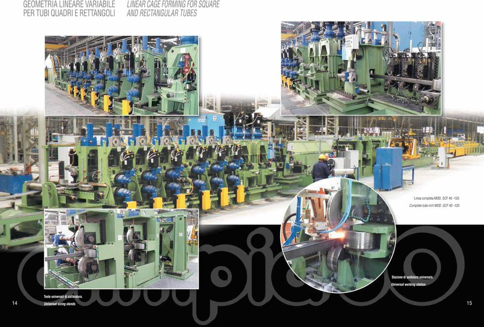 Complete tube mill