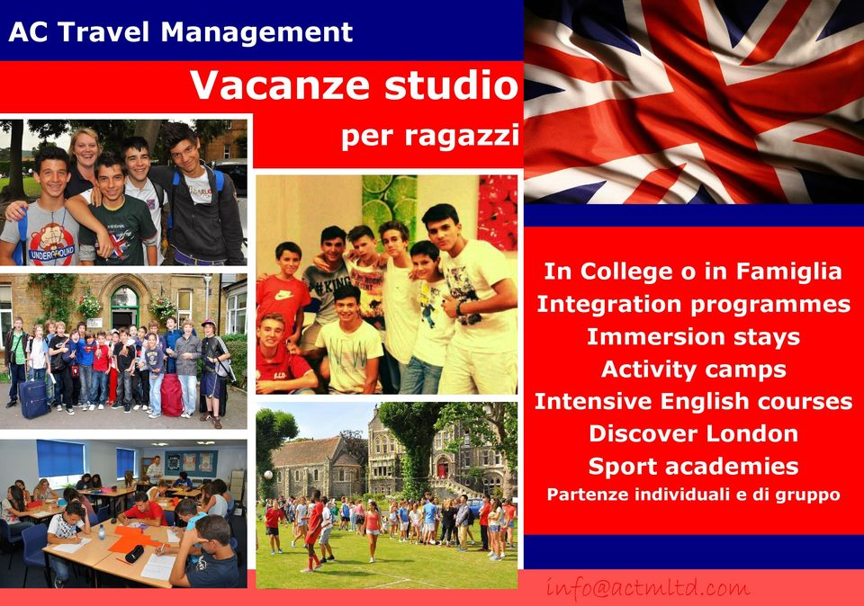 Activity camps Intensive English courses Discover London