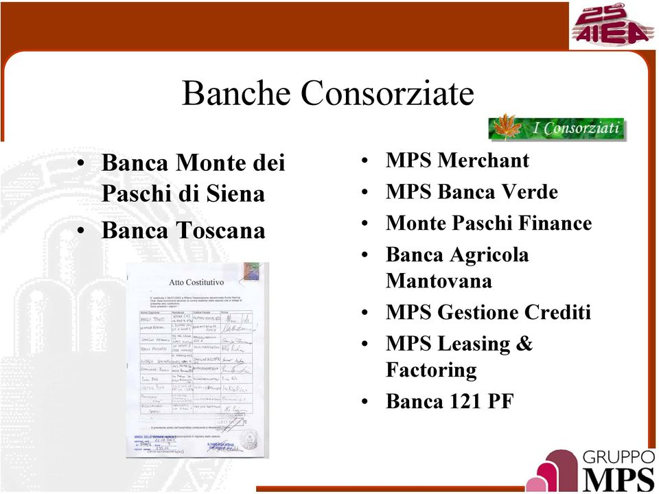 Monte Paschi Finance Banca Agricola Mantovana MPS