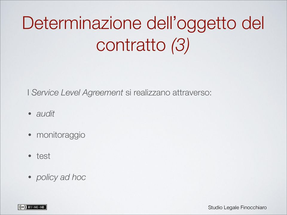 Agreement si realizzano