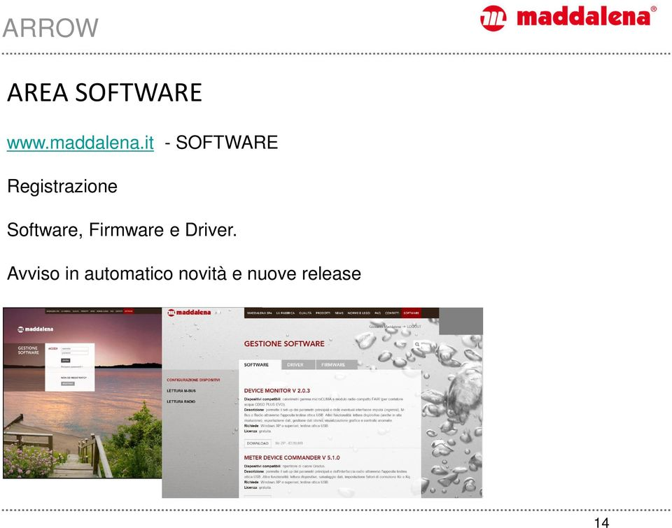Software, Firmware e Driver.