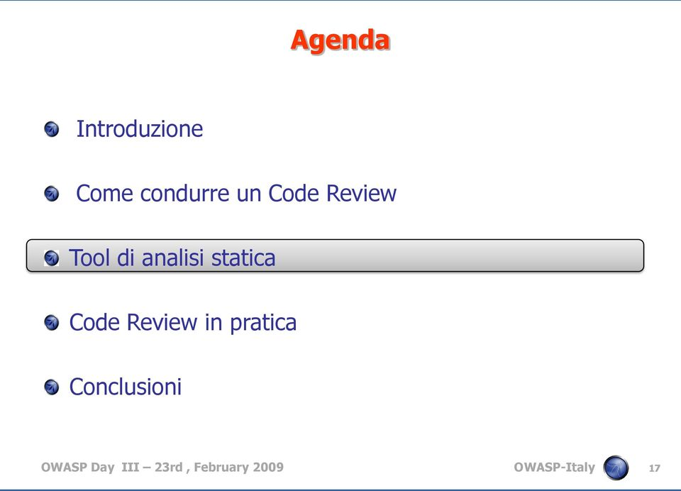 Code Review in pratica Conclusioni