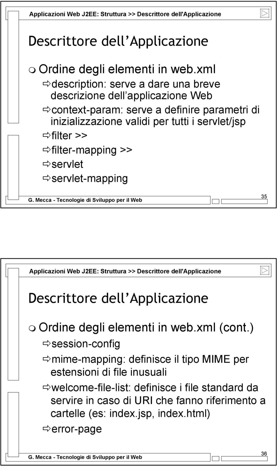 filter-mapping >> servlet servlet-mapping 35 xml (cont.